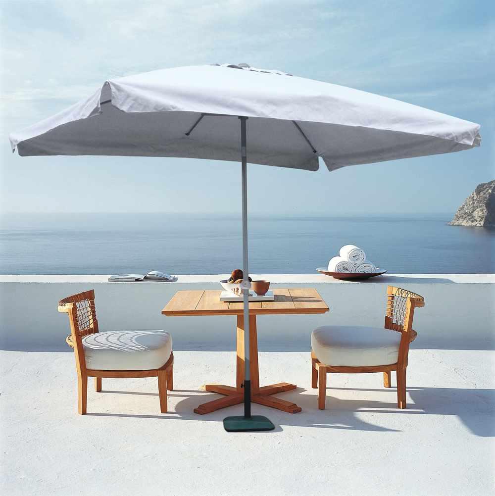 Rechteckig Café Hotel Gartenschirme 3x2 Sonnenschirm Alu Mittelmast Eden