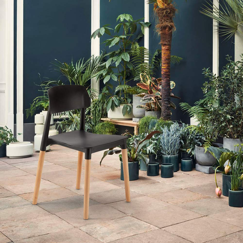Küchenstühle Bistrostuhl Aus Polypropylen Und Holz Design Belloch Barcellona