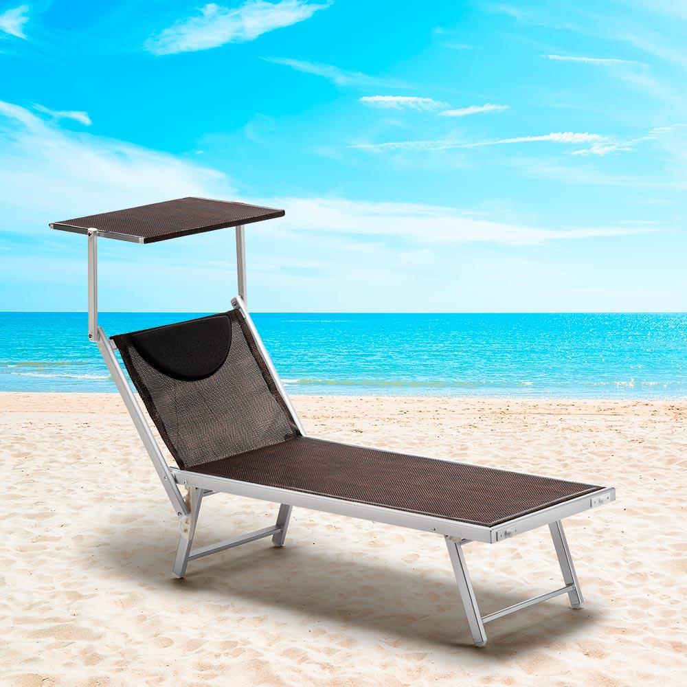 Sonnenliege Aus Aluminium Für Strand Meer Strandliegen Santorini Limited Edition