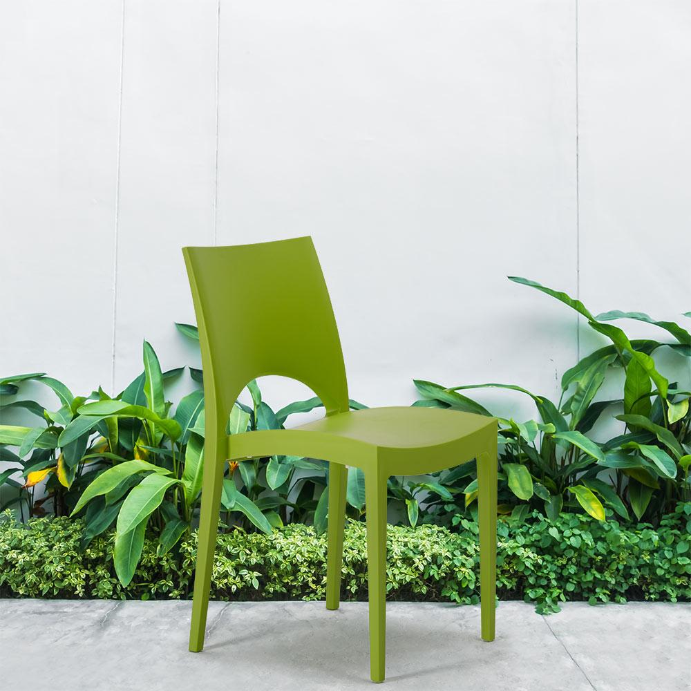 Stapelbarer Polypropylen Stuhl Küchenstuhl Außenstühle Café Haus Grand Soleil Paris