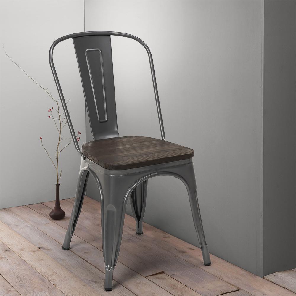 Tolix Industriestahl Holzstühle Für Küche Und Bar Steel Wood