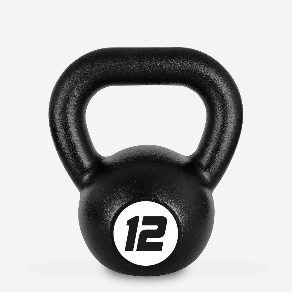 Eisen Kettlebell Gewicht 12 kg Kugel Griff für Fitnessstudio Kotaro