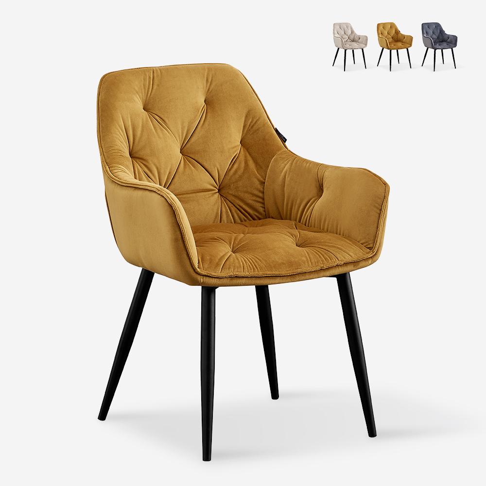 Sessel Design gepolstert Samt Wohnzimmer Lounge Nirvana Chesterfield