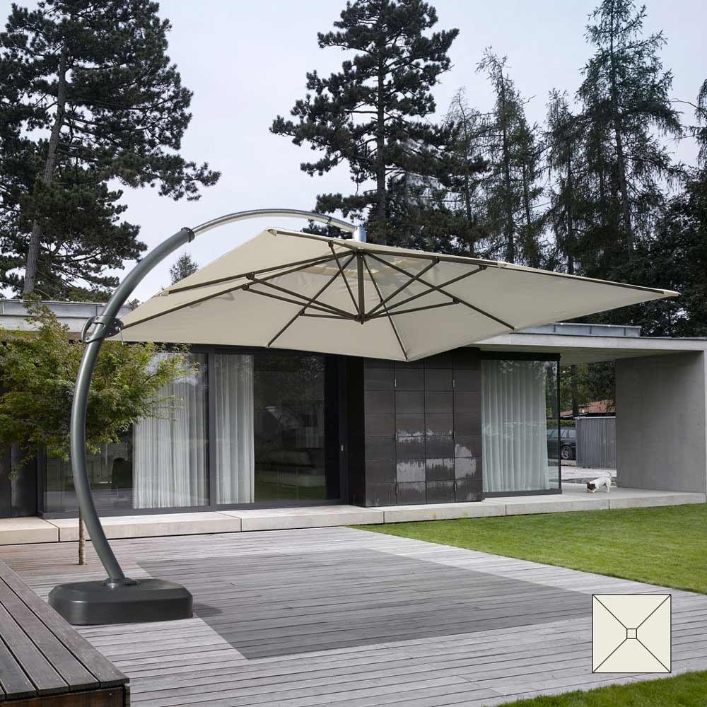 Großer Gartenschirm 3,5m Quadratisch Aluminiummast Kopenhagen