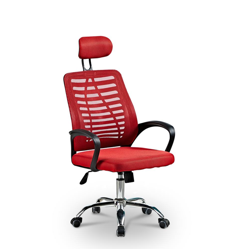 Ergonomischer Bürostuhl mit atmungsaktivem Stoff und Kopfstütze Equilibrium Fire