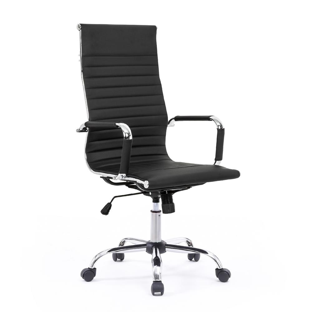 Eleganter Bürostuhl ergonomischer Sessel Metall Kunstleder Linea