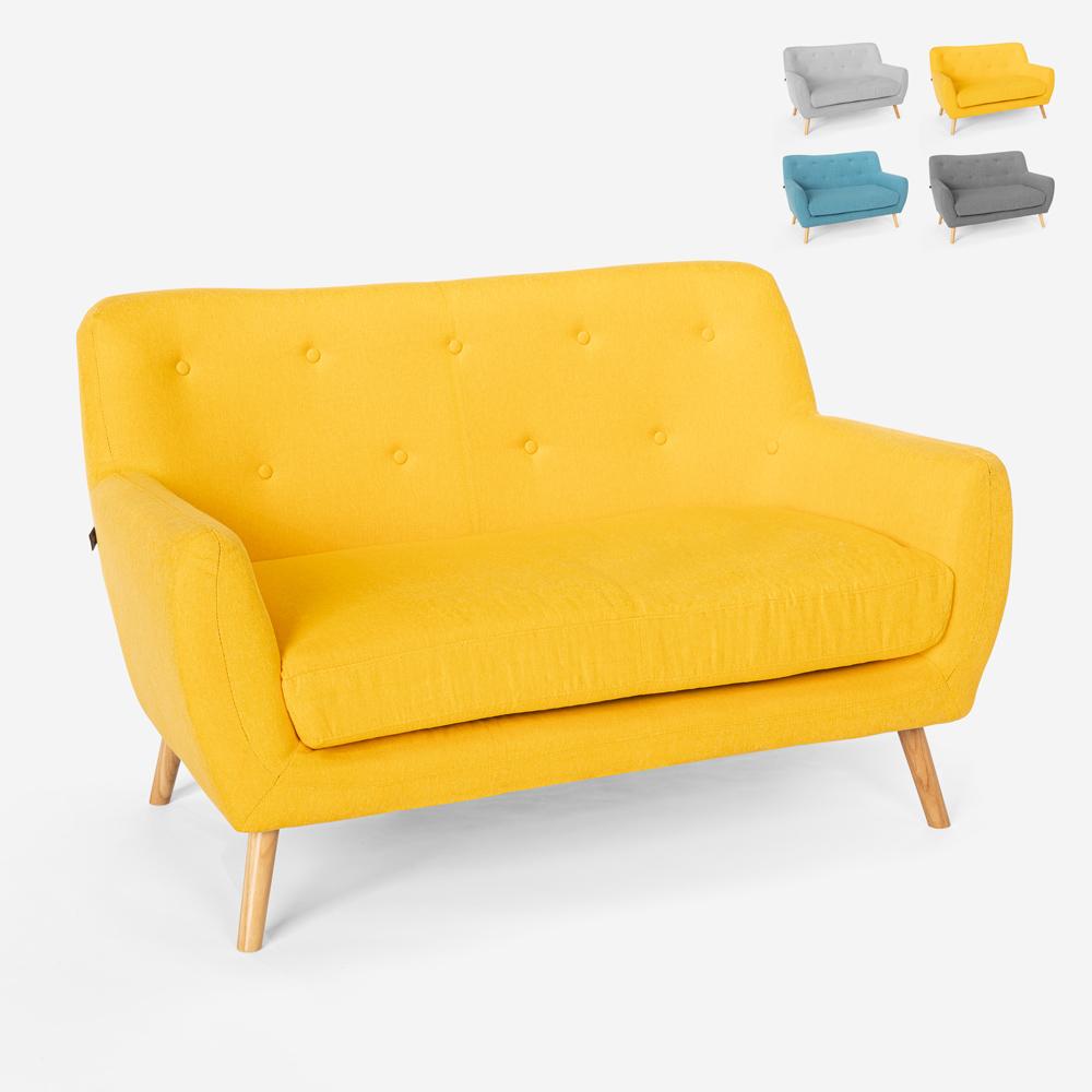 2-Sitzer-Sofa aus Stoff modernes Design im skandinavischen Stil Irvine