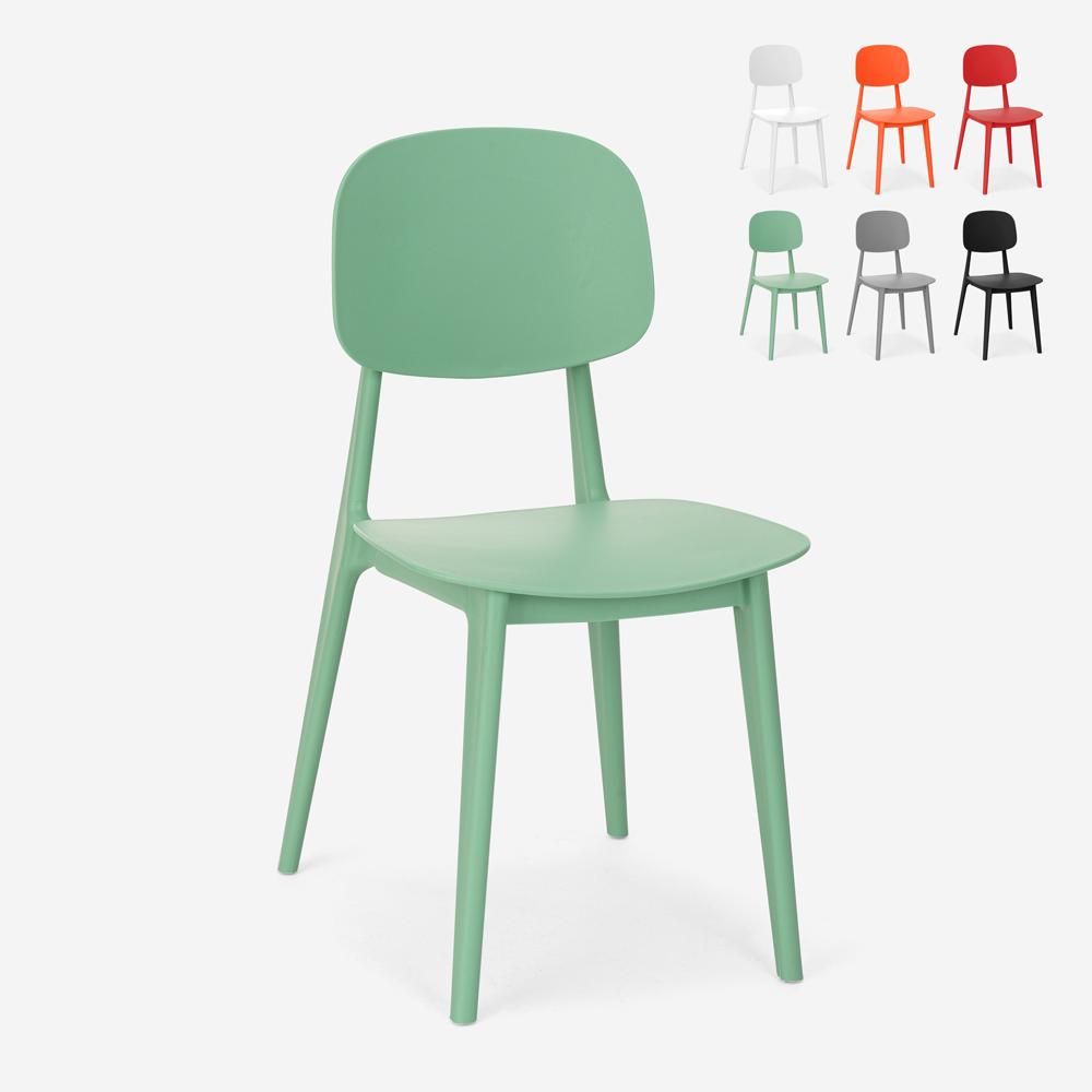 Stuhl aus Polypropylen in modernem Design für Küche, Garten, Bar, Restaurant Geer