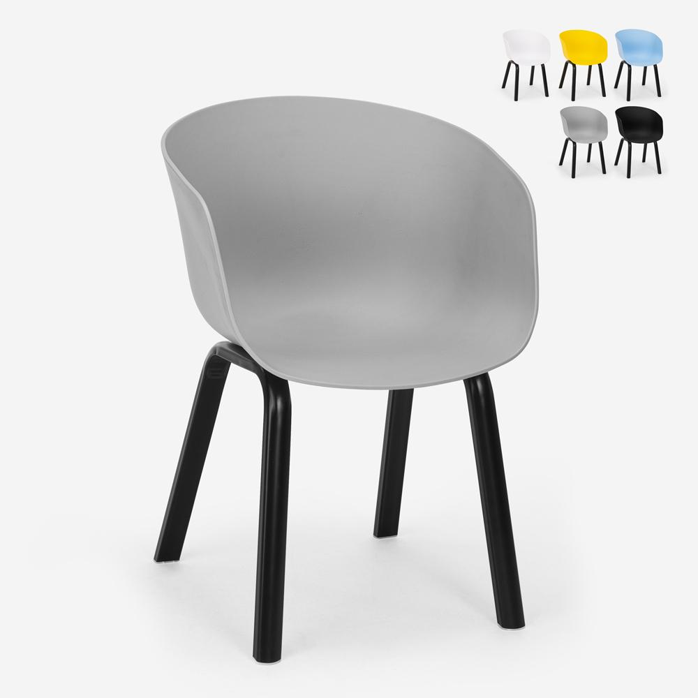 Stuhl aus Polypropylen Metall in modernem Design für Küche Bar Restaurant Senavy
