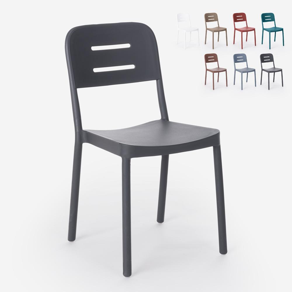 Moderner Designstuhl aus Polypropylen für Bar, Küche, Restaurant, Garten Mose