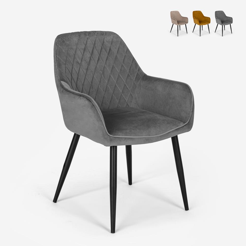 Sessel Design Samt gepolstert Wohnzimmer Lounge Nirvana