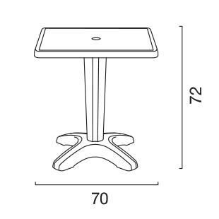 tavolino size